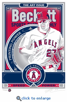 Mike Trout Beckett Magazine Cover Sports Propaganda Handmade LE Screen Print- Angels