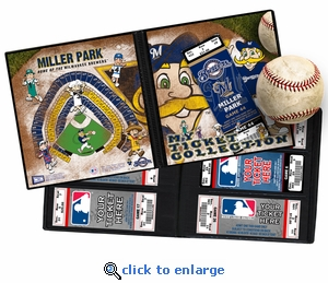 Milwaukee Brewers Mascot Ticket Album - Bernie Brewer