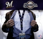 Milwaukee Brewers MLB Lanyard Key Chain and Ticket Holder