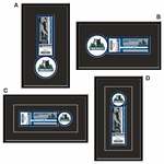 Minnesota Timberwolves Single Ticket Frame