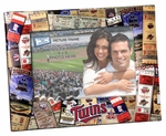 Minnesota Twins Padded Front 4x6 Picture Frame - Ticket Collage Design