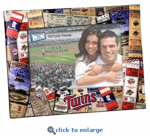 Minnesota Twins 4x6 Picture Frame - Ticket Collage Design