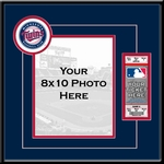 Minnesota Twins 8x10 Photo and Ticket Frame