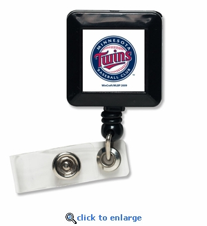 Minnesota Twins Retractable Ticket Badge Holder