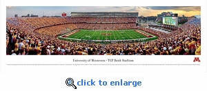 Minnesota, University Of - Football 40x13.5 Panoramic Photo