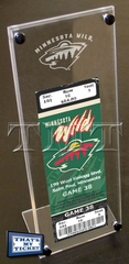 Minnesota Wild Engraved Ticket Stand