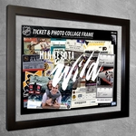 Minnesota Wild Ticket & Photo Collage Frame