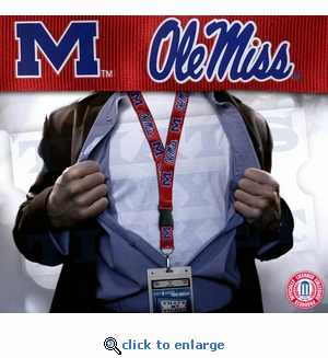 Mississippi Ole Miss NCAA Lanyard Key Chain and Ticket Holder