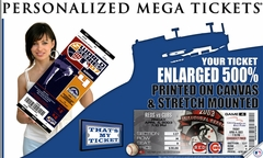 MLB Personalized Mega Ticket - Made From Your Ticket