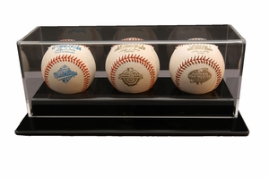 Multiple Baseball Display Cases
