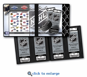 National Hockey League NHL Ticket Album