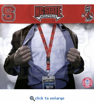 NC State Wolfpack NCAA Lanyard Key Chain and Ticket Holder