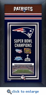 New England Patriots 4-Time Super Bowl Champions Frame