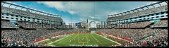 New England Patriots Longest Winning Steak in History - vs. Dolphins (2004) Panoramic Photo