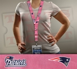 New England Patriots NFL Lanyard Key Chain and Ticket Holder - Pink
