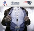 New England Patriots NFL Lanyard Key Chain and Ticket Holder - White