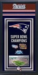 New England Patriots Team Champions Frame