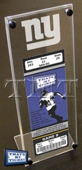 New York Giants Engraved Ticket Stand