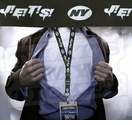 New York Jets NFL Lanyard Key Chain and Ticket Holder - Green J!E!T!S!
