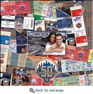 New York Mets 12 x 12 Scrapbook - Ticket & Photo Album