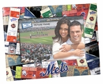 New York Mets Padded Front 4x6 Picture Frame - Ticket Collage Design