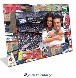 New York Mets 50th Anniversary 5x7 Picture Frame - Ticket Collage Design