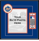 New York Mets 8x10 Photo and Ticket Frame