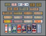 New York Yankees 27 Time World Series Champions Tickets to History - Replica Ticket Frame