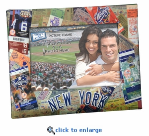 New York Yankees 4x6 Picture Frame - Ticket Collage Design