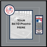New York Yankees 8x10 Photo and Ticket Frame