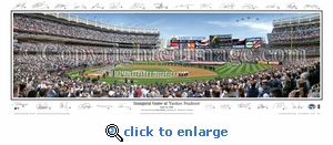 New York Yankees Inaugural Game at Yankee Stadium - 2009 Panoramic Photo