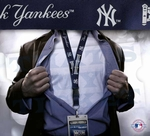 New York Yankees MLB Lanyard Key Chain and Ticket Holder - Navy