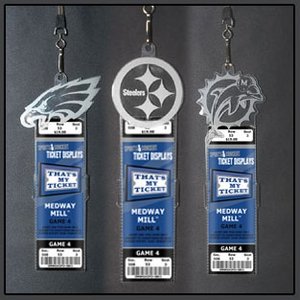 NFL Engraved Ticket Holders