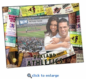 Oakland Athletics 4x6 Picture Frame - Ticket Collage Design