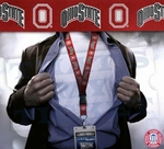 Ohio State Buckeyes NCAA Lanyard Key Chain and Ticket Holder - Red