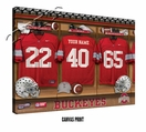 Ohio State Buckeyes Personalized Football Locker Room Print