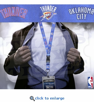 Oklahoma City Thunder NBA Lanyard Key Chain and Ticket Holder