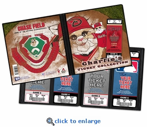 Personalized Arizona Diamondbacks Mascot Ticket Album - Baxter The Bobcat