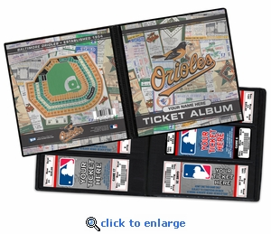 Personalized Baltimore Orioles MLB Ticket Album