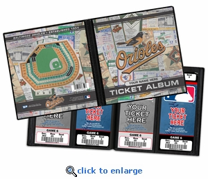 Personalized Baltimore Orioles Ticket Album