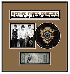 Personalized Concert Ticket  & CD Frame