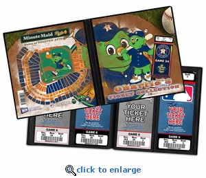 Personalized Houston Astros Mascot Ticket Album - Junction Jack
