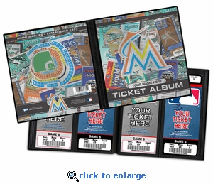 Personalized Miami Marlins Ticket Album