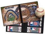 Personalized Milwaukee Brewers Ticket Album