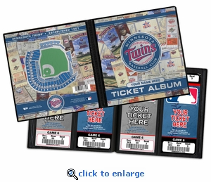 Personalized Minnesota Twins Ticket Album