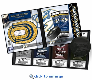 Personalized Nashville Predators Ticket Album
