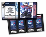 Personalized New York Rangers Ticket Album