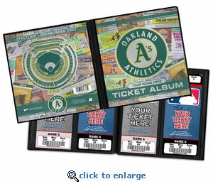 Personalized Oakland A's Ticket Album