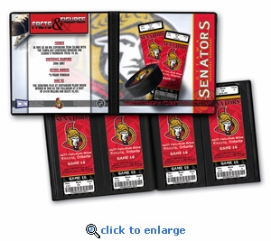 Personalized Ottawa Senators Ticket Album