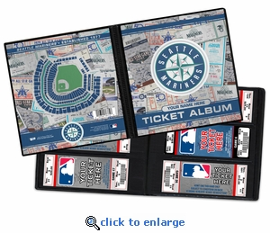 Personalized Seattle Mariners Ticket Album